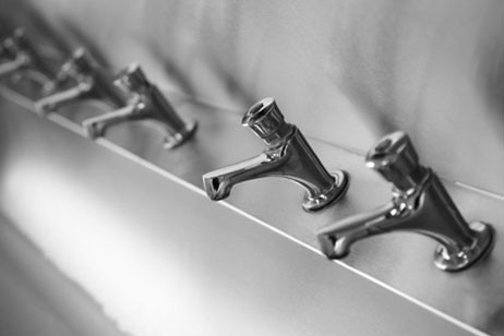 stainless steel bathroom fixtures. aero builds every stainless steel plumbing fixture, like sinks and faucets, to the most stringent architect\u0027s, engineer\u0027s consultant\u0027s specifications. bathroom fixtures l