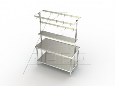 Image of FPC Series, Stainless Steel Pot Rack | Kitchen Rack | NSF