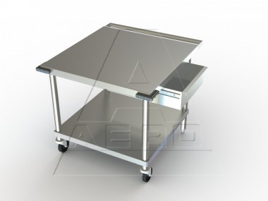 image of met series stainless steel nsf listed mobile equipment table
