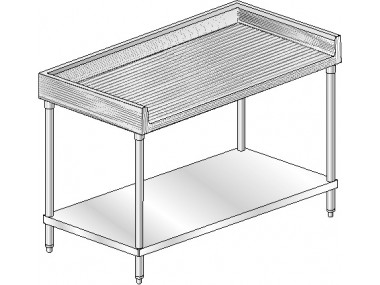 MTGB Maple NSF Listed Worktable With Backsplash On Three Sides - Stainless steel table with backsplash and sides