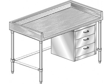 Image of MTGBXT Series, Maple NSF Listed Worktable with 4