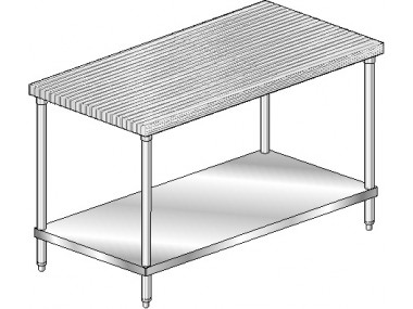 Image of MTS Series, Maple NSF Listed Flat Top Worktable | Prep Table