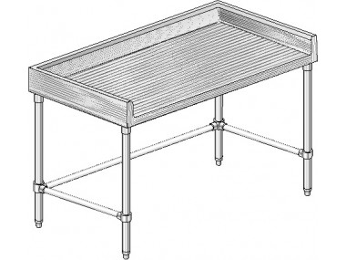 Image of MTSBX Series, Maple NSF Listed Worktable with 4