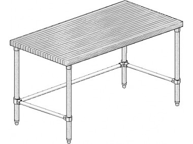 Image of MTSX Series, Maple NSF Listed Flat Top Worktable | Prep Table