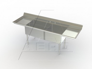 Image of CP Series, 2 Bowl Commercial Prep Sink