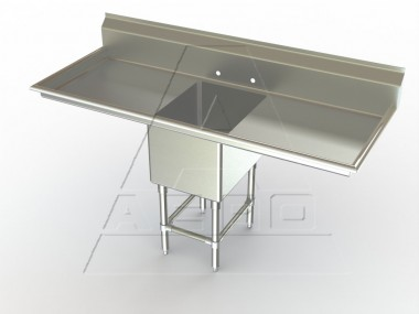 Image of F1LR Series, Single Bowl Sink - Two Drainboards