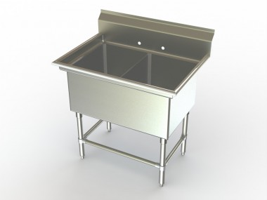 Double compartment sink sinks ideas for Furniture w waters ave tampa