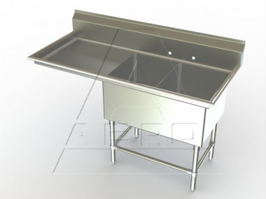 Image of F2L Series, Double Bowl Sink - Left Drainboard