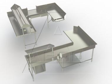 Image of D-20 Series, Double Shelf, per linear foot, (4' min.), 14/304