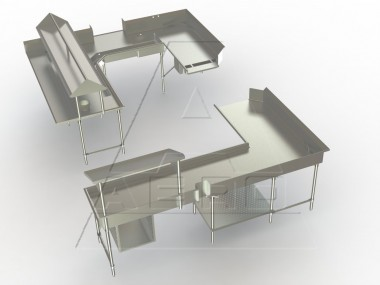 Image of D-47 Series, Pre-Rinse Basket and Slides, Sink Accessories