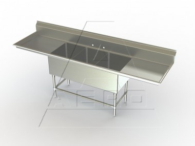 Image of F3LR Series, 3 Compartment Sink - Two Drainboards