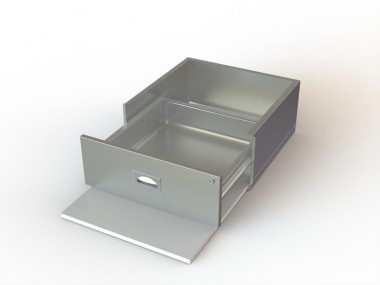 Aerospec Table Accessories Stainless Steel Drawers - Stainless steel table accessories