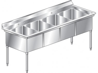 Image of F4 Series, 4 Compartment Sink