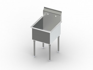 Image of S1 Series, One Compartment Sink, Steel Single Bowl Sink