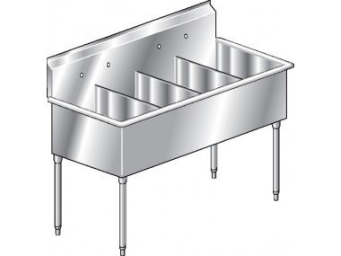Image of S4 Series, Stainless Steel Four Compartment Sink