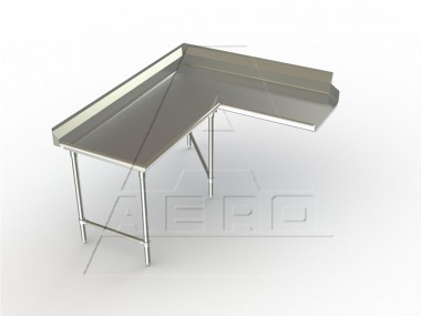 Image of SDCL Series, Stainless Steel NSF Listed Soiled Dishtable Corner Design