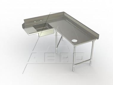 Image of SDCR Series, Stainless Steel NSF Listed Soiled Dishtable Corner Design