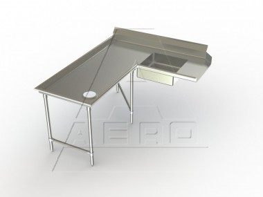 Image of SDIL Series, Stainless Steel NSF Listed Soiled Dishtable Island Design