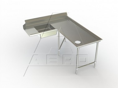 Image of SDIR Series, Stainless Steel NSF Listed Soiled Dishtable Island Design