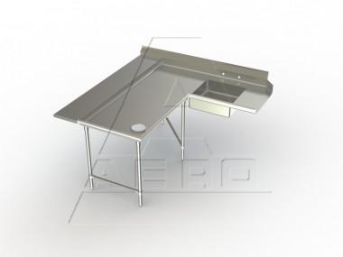 Image of SDLL Series, Stainless Steel NSF Listed Soiled Dishtable Corner Design with Landing Shelf