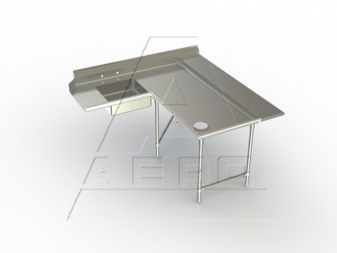 Image of 3SDL Series, Stainless Steel NSF Listed Soiled Dishtable Corner Design with Landing Shelf