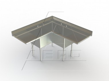 Image of 3C Series, Stainless Steel Corner Sink Unit