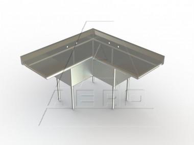 Corner Sink Stainless Steel : Corner Sink Stainless Steel Triple Bowl Commercial Sink