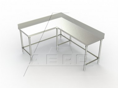 Image Of TCBX Series, Stainless Steel NSF Listed Corner Worktable