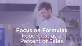 Food Cost as a Percent of Sales