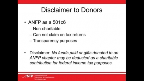ANFP Chapter Chat: Chapter Fundraising Policies