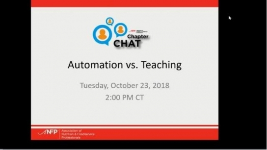 ANFP Chapter Chat: Automation vs. Teaching