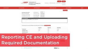 Reporting CE and Uploading Required Documentation
