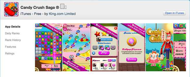 Candy Crush Saga app details