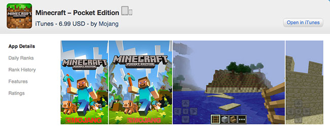 Minecraft Pocket Edition app details