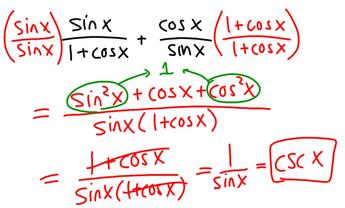 Eleventh grade Lesson Trigonometric Identities - Day 1 of 2
