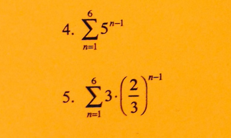 Eleventh grade Lesson Quiz on Sequences and Intro to Sigma Notation