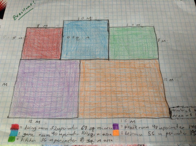Fourth Grade Lesson Designing The Perfect Floor Plan Showing Understanding Of Area And Perimeter
