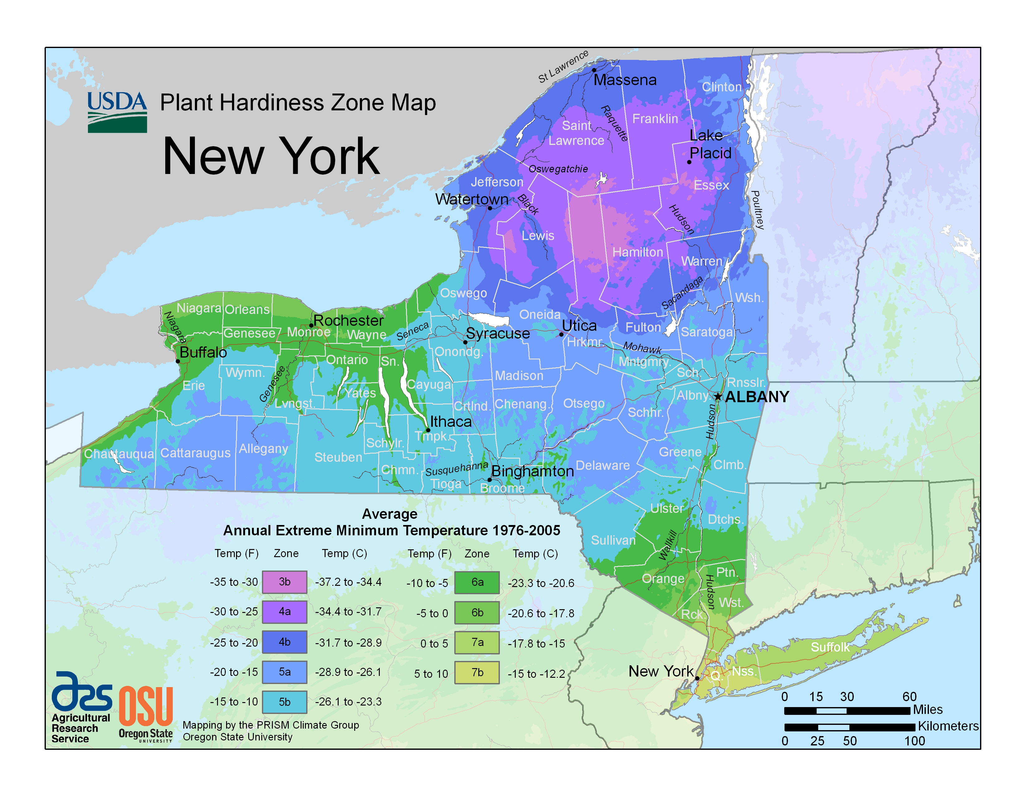 Ny State Map Google.New Hardiness Zone Map For New York