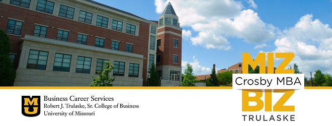University of Missouri, MBA Career Services Banner