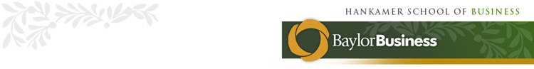 Baylor University Hankamer School of Business Banner