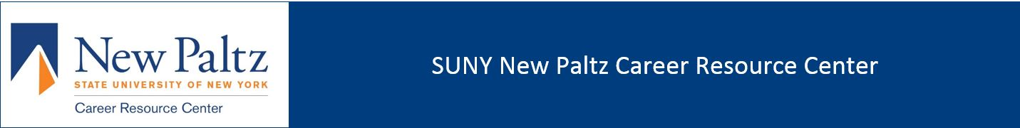 SUNY New Paltz Career Resource Center Banner