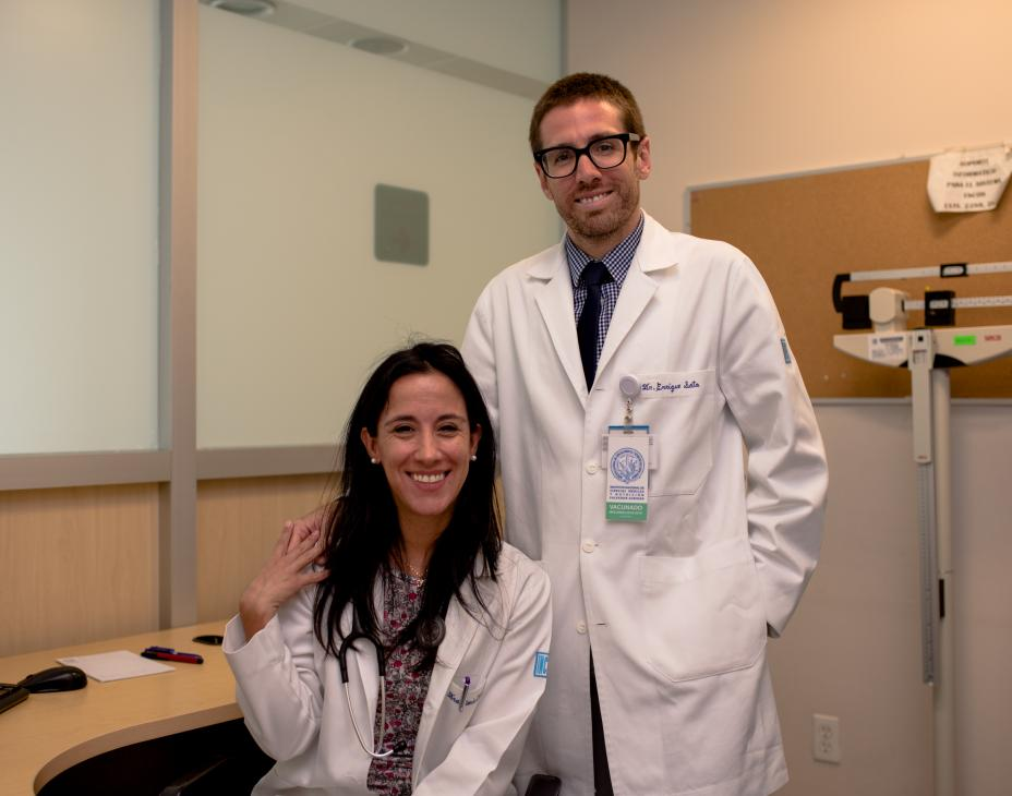 Dr. Soto and Dr. Chavarri pictured together in their clinic