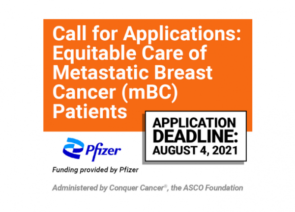 Call for applications: Equitable Care of Metastatic Breast Cancer Patients