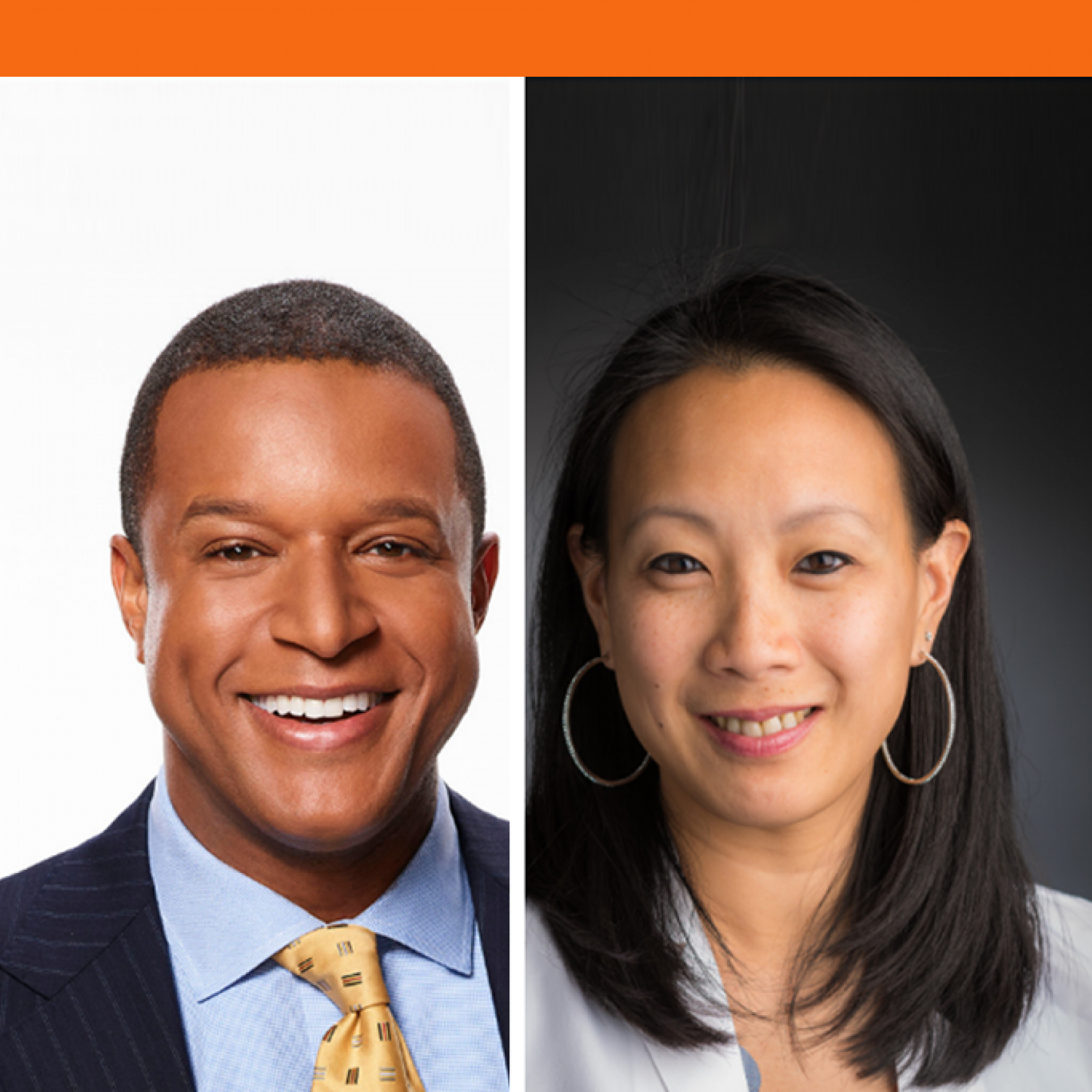 Craig Melvin and Dr. Kimmie Ng