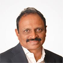 Headshot of Raj Mantena, a Conquer Cancer Board member