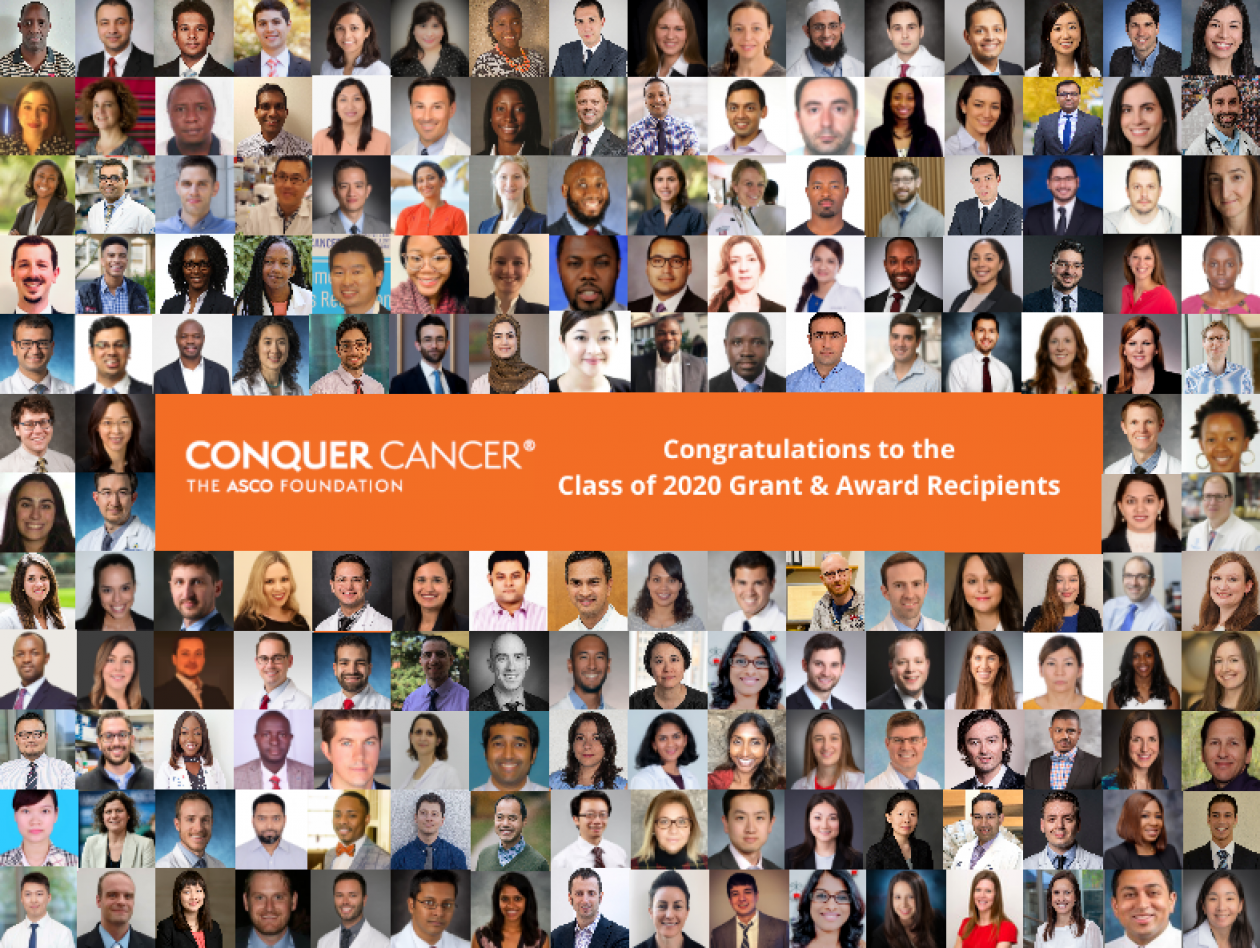 Collage of 2020 Conquer Cancer G&A recipients