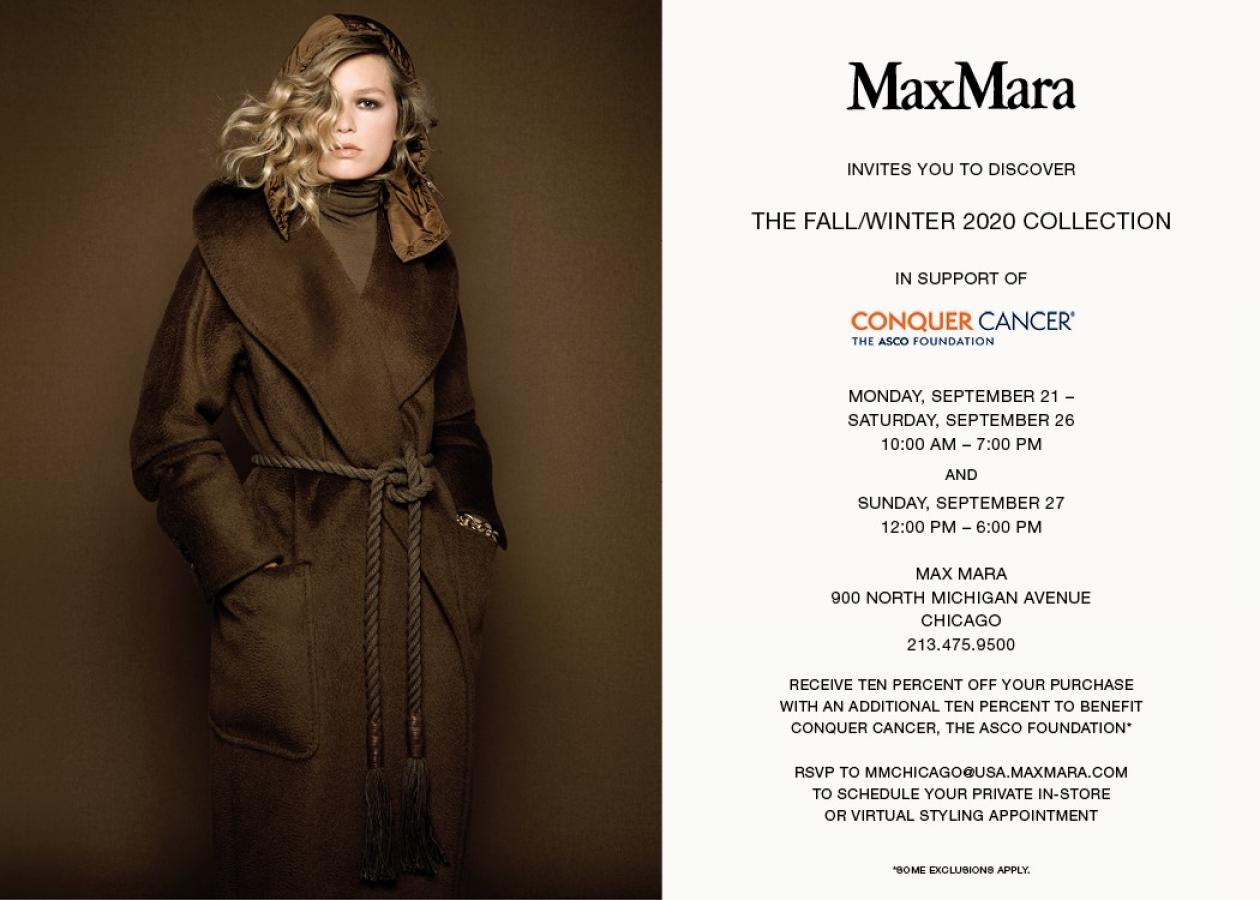 MaxMara Conquer Cancer