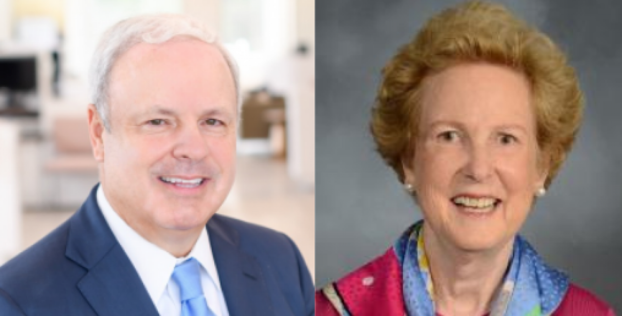 Duo collage of Dr. Howard Burris and Dr. Anne Moore.