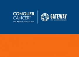 Conquer Cancer and Gateway for Cancer Research logos