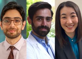 From left to right: Josephine Lopes Cardozo, MD; Abdul Rafeh Naqash, MD; Antonio Di Meglio, MD; Amy Yuan Wang, MD, MPH; Alanna Church, MD